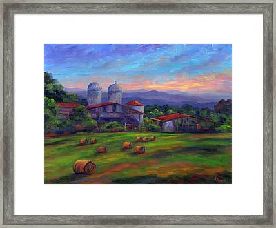 Old Hollabrook Farm At Dusk Framed Print by Jeff Pittman