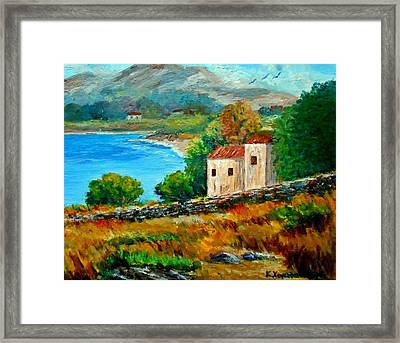 Old House In Mani Framed Print by Constantinos Charalampopoulos