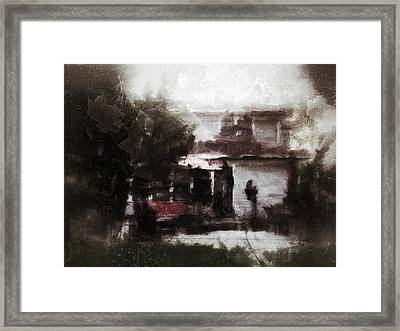 Old House Memory Framed Print by H James Hoff