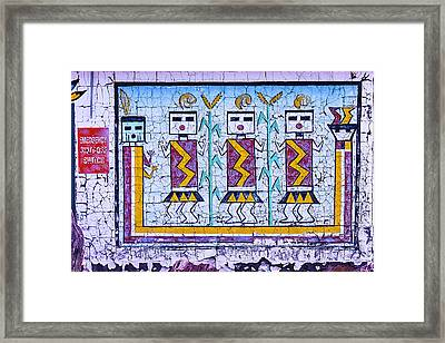 Old Indian Mural Framed Print by Garry Gay
