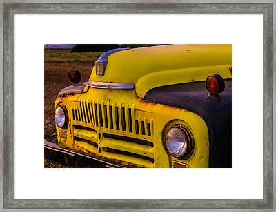 Old International Pickup Framed Print by Garry Gay