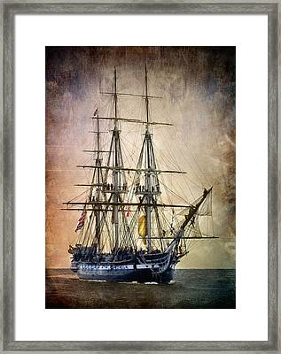 Old Ironsides Framed Print by Fred LeBlanc