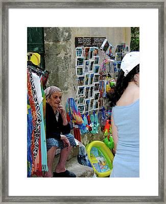 Old Italian Woman Framed Print by Ellyn Dooley