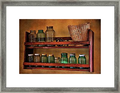 Old Jars Framed Print by Lana Trussell