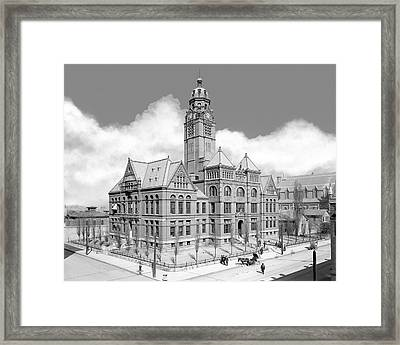 Old Jefferson County Courthouse - Birmingham Framed Print by Mark E Tisdale