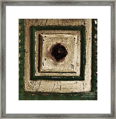 Old Knob Abstract Framed Print by Marsha Heiken