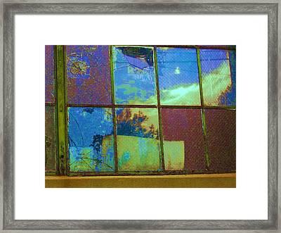 Old Lace Factory Window Framed Print by Don Struke