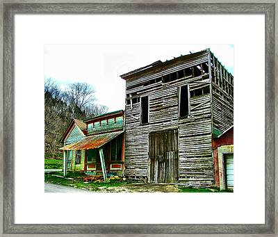 Old Leavenworth Indiana Ghost Town II Framed Print by Julie Dant