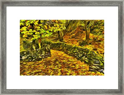 Old Liberty Park In Autumn Framed Print by Mark Kiver