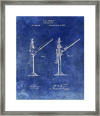 Old Lift Jack Patent Framed Print by Dan Sproul