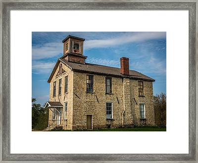 Old Limestone School House Framed Print by Paul Freidlund