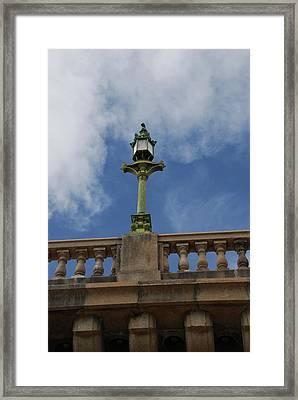 Old London Bridge - Az Framed Print by Carol  Eliassen