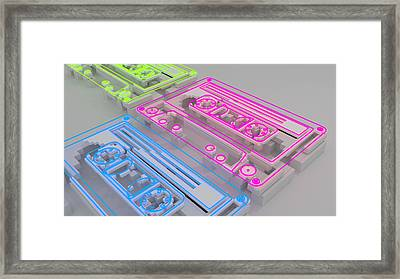 Old Love - Cassette Cg Render Framed Print by Dimitris Christou