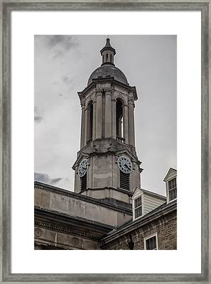 Old Main Penn State Clock  Framed Print by John McGraw