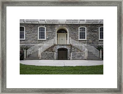 Old Main Penn State Stairs  Framed Print by John McGraw