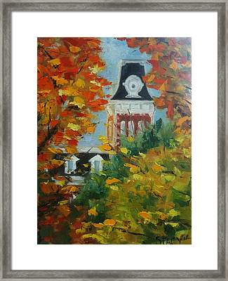 Old Main Framed Print by Stacy Spangler