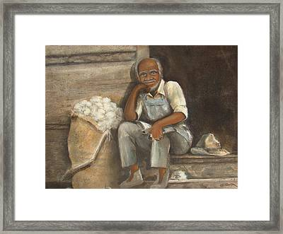 Old Man Cotton Framed Print by Charles Roy Smith