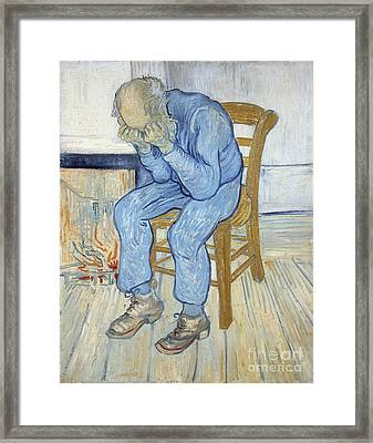 Old Man In Sorrow Framed Print by Vincent van Gogh
