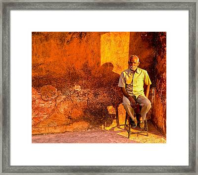Old Man Framed Print by M G Whittingham