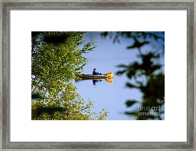 Old Man On The Lake Framed Print by David Lee Thompson
