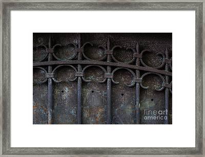 Old Metal Gate Framed Print by Elena Elisseeva