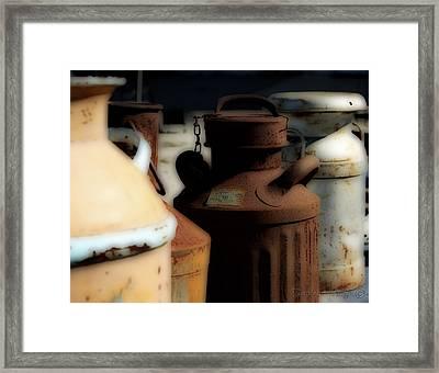 Old Milk Cans Framed Print by Danielle Miller