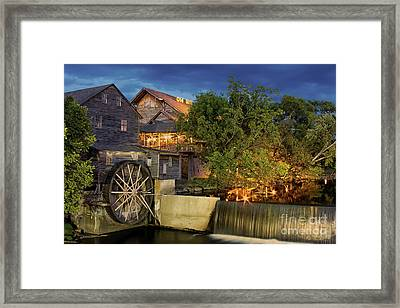 Old Mill Framed Print by Geraldine DeBoer