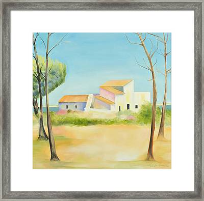 Old Mill In The Algarve Framed Print by Jenny anne Morrison