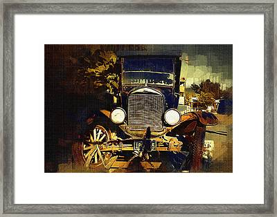 Old Model T Framed Print by Holly Ethan
