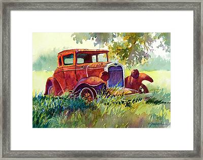 Old Model T Framed Print by Mary Shepard