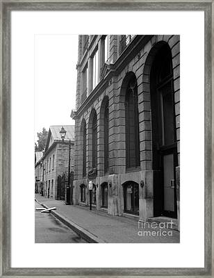 Old Montreal Street Scene Framed Print by Reb Frost
