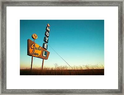 Old Motel Neon Framed Print by Todd Klassy