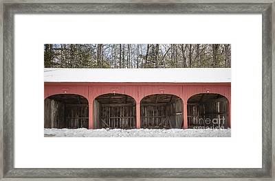 Old New England Carriage Barn Framed Print by Edward Fielding