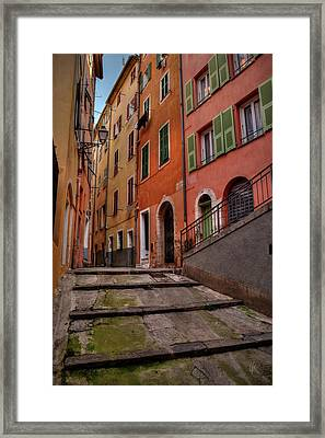 Old Nice - Vieille Ville 002 Framed Print by Lance Vaughn