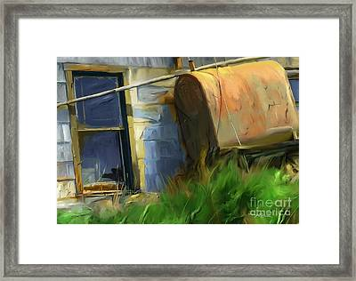 old oil tank P.E.I. Framed Print by Bob Salo