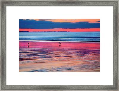 Old Orchard Beach Sunrise Framed Print by Joann Vitali