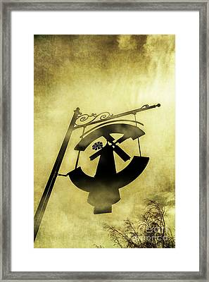 Old Ornately Decorated Sign Framed Print by Jorgo Photography - Wall Art Gallery