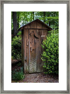 Old Outhouse Framed Print by Paul Freidlund