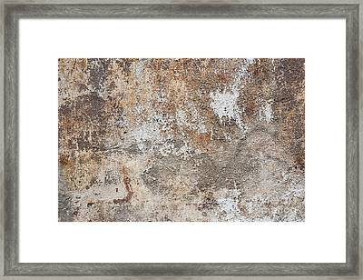 Old Painted Wall Framed Print by Elena Elisseeva