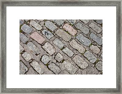 Old Paving Stones Framed Print by Tom Gowanlock