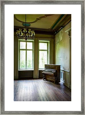 Old Piano - Abandoned Buildings Framed Print by Dirk Ercken