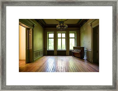 Old Piano - Urban Decay Framed Print by Dirk Ercken