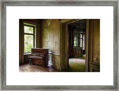 Old Piano - Urban Exploration Framed Print by Dirk Ercken