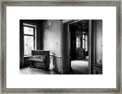 Old Piano Waiting To Be Played - Abandoned Bildings Framed Print by Dirk Ercken