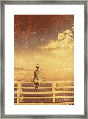 Old Pinup Girl Photo Framed Print by Jorgo Photography - Wall Art Gallery