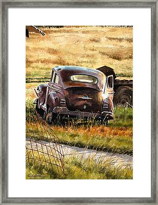 Old Plymouth Framed Print by Tom Hedderich