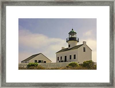 Old Point Loma Lighthouse - Cabrillo National Monument San Diego Ca Framed Print by Christine Till