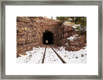 Old Railroad Tunnel Framed Print by Sue Smith
