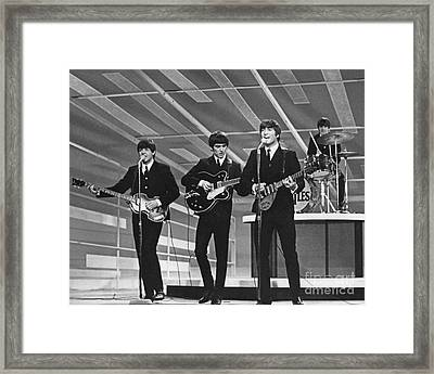 Old Rare Beatles Framed Print by Pd