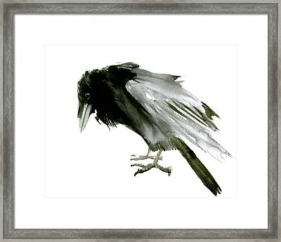 Old Raven Framed Print by Suren Nersisyan